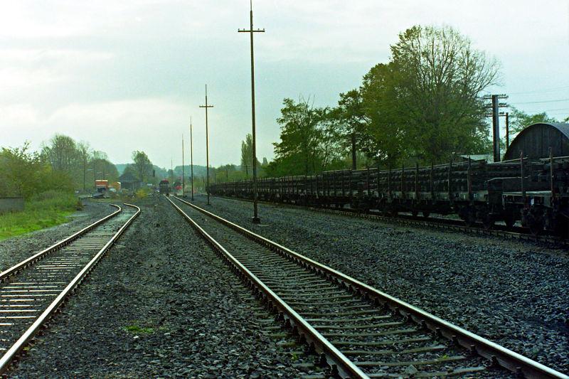 Umbau 1991: Blick vom nördl. Bahnhofskopf nach Süden