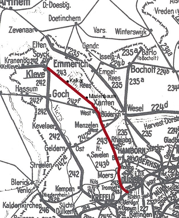 Karte Hippelandexpress