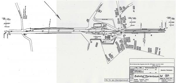 Gleisplan Marienbaum 1940.