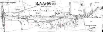 Gleisplan Xanten 1905