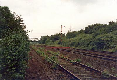 Hohenbudberg Rbf, Einfahrsignal T aus Richtung Rheinhausen
