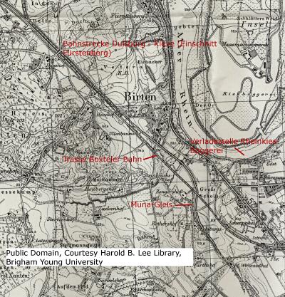 Karte zum Anschluss Kiesgesellschaft Birten